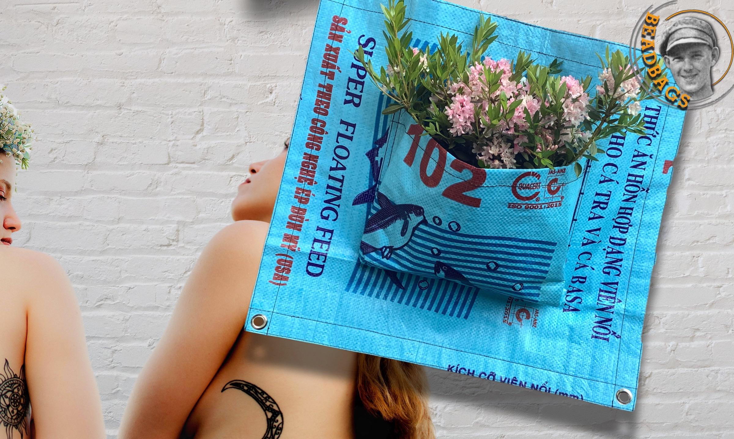 Beadbags Garten Pflanztaschen blau